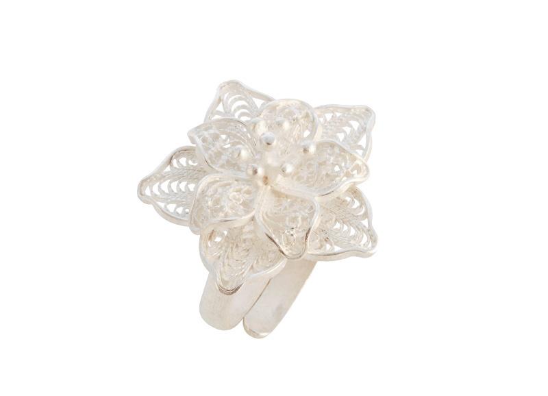 Zilveren ring uit Peru