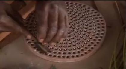 Glaskralen uit Ghana