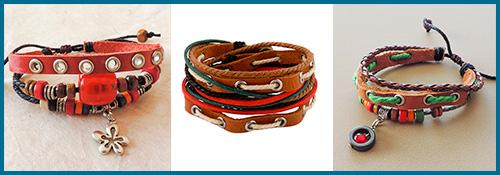 Versier je polsen deze herfst met leren armbandjes uit verre oorden!