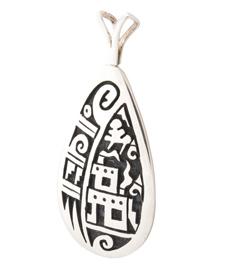 Zilveren Indianen hanger