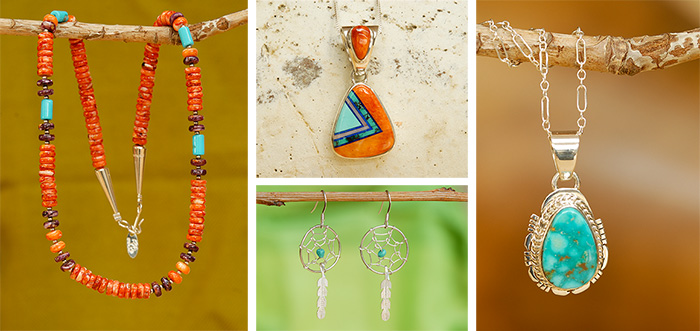 Handgemaakte sieraden van de indianen