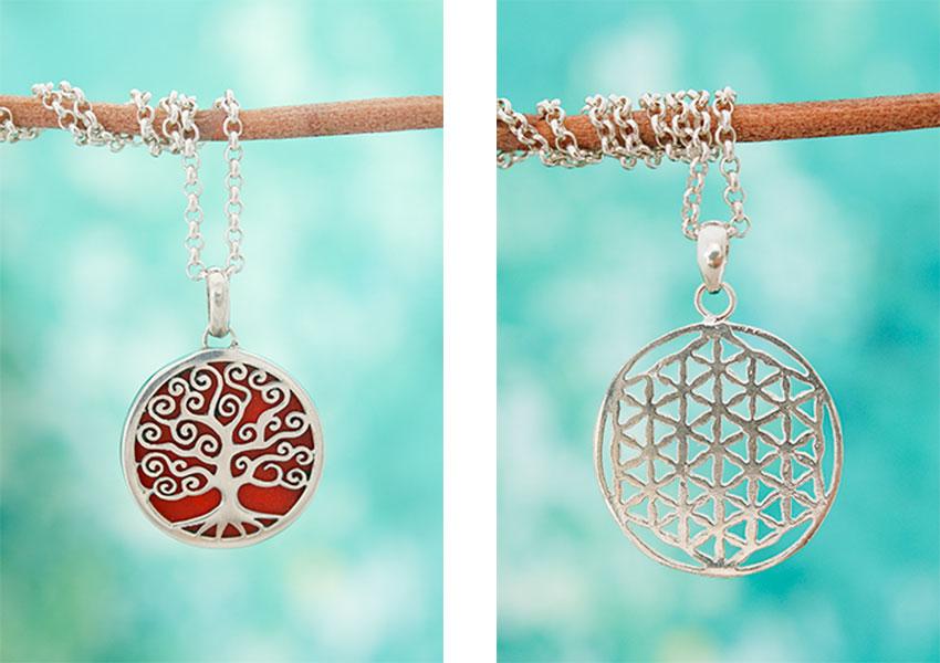 De collectie zilveren spirituele hangers uit Bali